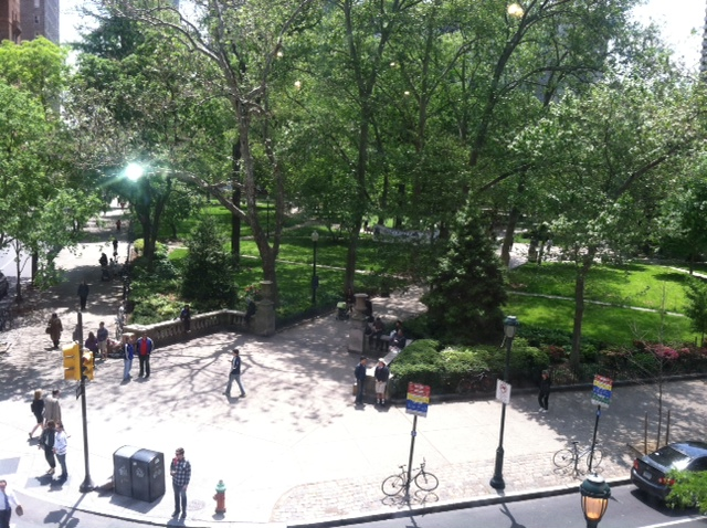 Rittenhouse Square from the window of Anthropologie