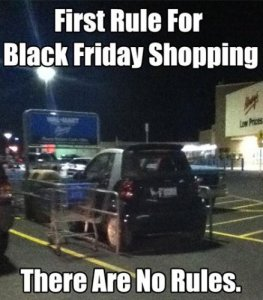 Black Friday shopping pic