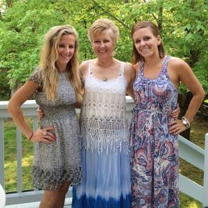 Megan, me, and Laura at Megan's bridal shower